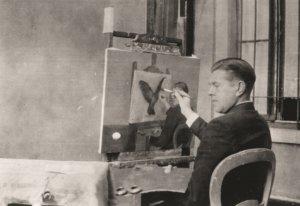 Rene Magritte at ArtisTree - Rene Magritte painting La Clarvoyance, 1936